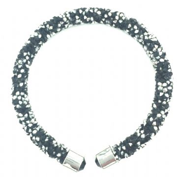 Sparkle dust cuff bracelet kit - black / silver